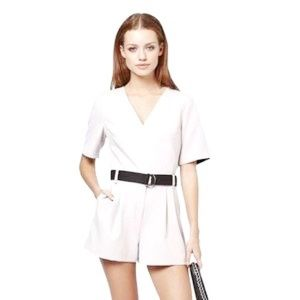 Topshop White Judo Belted Playsuit 6